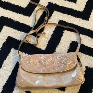 Patricia Nash metallic floral crossbody purse